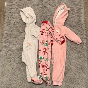 Baby girl sleepers from carters size 9 months